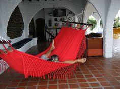 Relax in a Hammock in the shade Casa Blanca Playa Cautivo South Coast of Ecuador