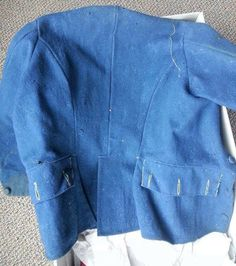 The full back of the French workman's jacket.