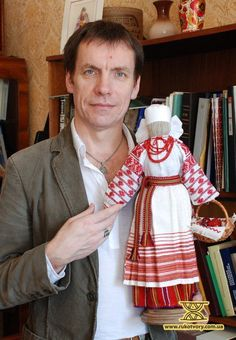 "Yurij Mel'nychuk from Kolomyya with his ""motanka"" , Ukraine, from Iryna"