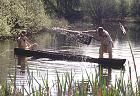 On the lakes people used fish traps for fishing