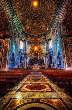 43 Beautiful Photo St Peter's Basilica, Vatican, Rome, Italy Church Architecture, Beautiful Architecture, Beautiful Buildings, Beautiful Places, Amazing Places, Wonderful Places, Cathedral Basilica, Cathedral Church, Visit Rome