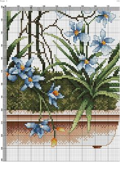 Renoir Paintings, Cross Paintings, Cross Stitch Flowers, Bobbin Lace, Pansies, Cross Stitching, Needlepoint, Needlework, Diy And Crafts