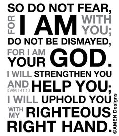 Isaiah 41:10 - Google Search