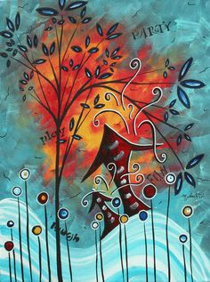 Live Life II by MADART Painting  - by Megan Duncanson.