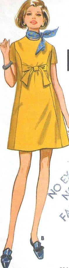Patrón de vestido vintage coser Butterick sin cortar 5520 tamaño 12