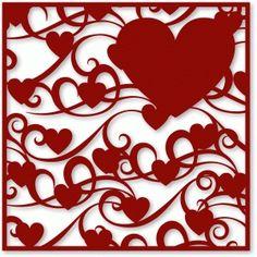 Silhouette Design Store - View Design #37025: flourished hearts backgound