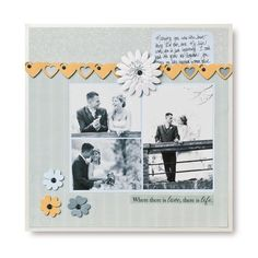 Where there is Love #Scrapbook Layout Page Idea from Creative Memories #wedding    www.creativememor...