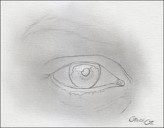 female eye pencil drawing f 2