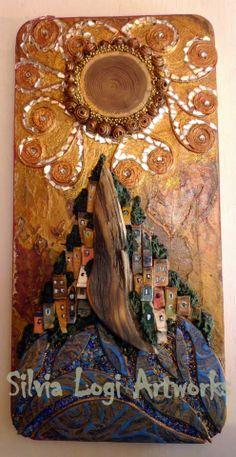 #sunset #wood #mosaic #villaa on #sea, seem more on FB https://www.facebook.com/pages/Silvia-Logi-Artworks/121475337893535