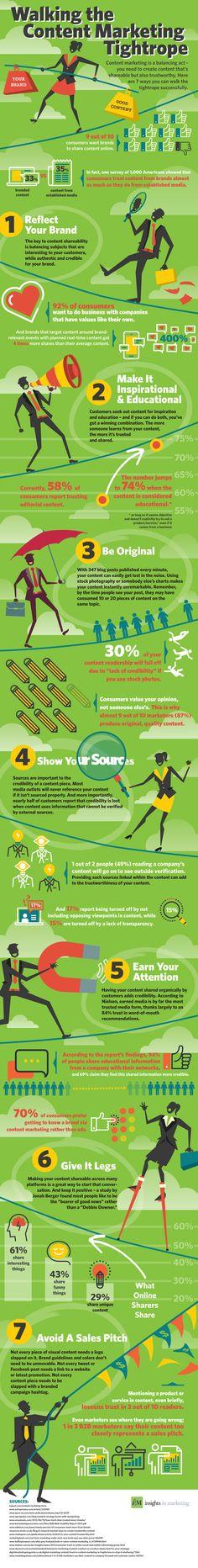 7 consejos para crear contenido de confianza para tu Marca #infografia #infographic #marketing | TICs y Formación
