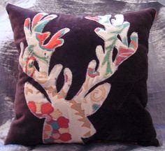 Make an Anthropologie Inspired  Deerhead Pillow