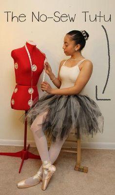 DIY Women Halloween Costumes  : DIY tutu from ribbon and netting