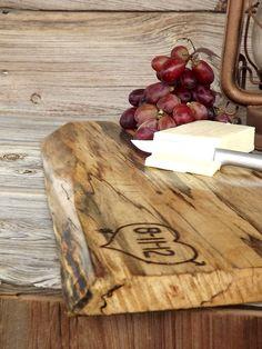 Wedding Gift: Live Edge Custom Cutting Board Serving Tray