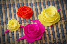 Flores de Fieltro, Manualidad de Tela Facil