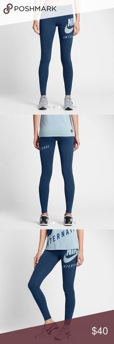 NWT! Nike Woman's Graphic Leggings BRAND NEW WITH TAGS!!! .                    Very cute and great quality like all Nike products! Never worn, tags attached! Nike Pants Leggings