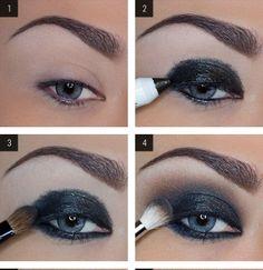 DIY –  Shimmery Smokey Eye Makeup