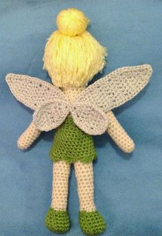 Tinkerbell-Crochet-Doll FREE PATTERN #crochetpattern #FREEpattern #Tinkerbell