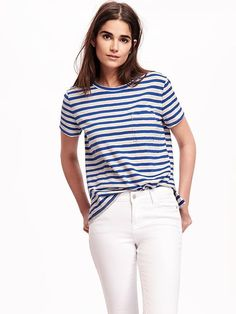 6e402b894 Boyfriend Pocket Tee for Women Navy Tees, Old Navy T Shirts, Petite T Shirts