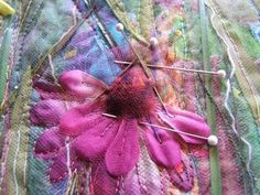 using tulle in fiber art projects - tutorial