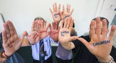 Staff at Rutland County Council supporting CSE Awareness Day