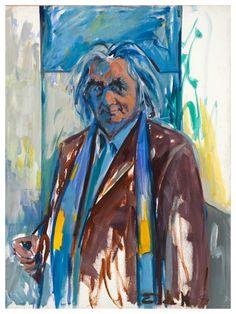 Elaine de Kooning (1918-1989) maakte zowel abstracte als figuratieve schilderijen en tekeningen van het stillevens, stadsgezichten en portretten. Haar werk werd beïnvloed door de kunstenaars Willem de Kooning, haar man en Arshile Gorky , kunstenaars die abstract en ook in figuurlijke stijl werkten.