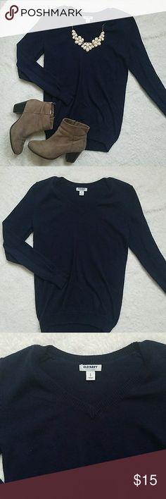 Old Navy Basic Navy V-neck Sweater Old Navy Basic V-neck Sweater. Some wear Old Navy Sweaters V-Necks