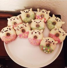 [Homemade] Cute kawaii cat donuts (baked)Food for Healthy Living Home Remedy for Healthy Living Cute Baking, Sweet Recipes, Healthy Recipes, Cat Cafe, Kawaii Cat, Baked Donuts, Healthy Life, Healthy Living, Home Food