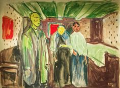 Edvard Munch - Death Room, 1915 at Munch Museum Oslo Norway | Flickr - Photo Sharing!