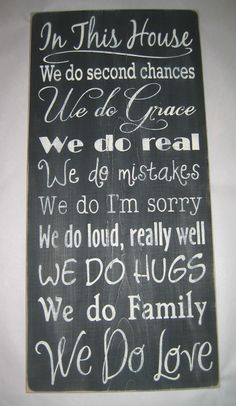 Family Rules, Primitive, Version 3, Subway Art, Typography, Distressed, Sign, Decor. $65.00, via Etsy.