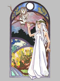 Blodeuwedd: Flower Faced Goddess of Wales   The Broom Closet