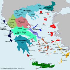 Kaart van Griekenland - Map of Greece