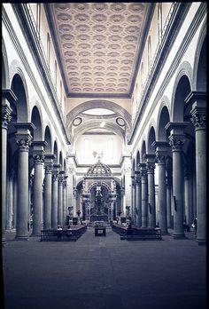 Brunelleschi; Santo Spirito; Florence, Italy His signature style of Pietra Serena
