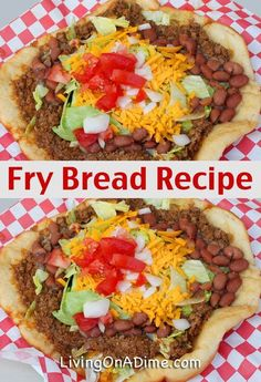 Navajo Fry Bread Recipe - Quick And Easy Fry Bread Recipe - - This easy Navajo Fry Bread Recipe makes a delicious fry bread that can be used for Navajo Tacos, also called Indian Tacos and a variety of other foods. Indian Taco Recipes, Beef Recipes, Mexican Food Recipes, Cooking Recipes, Barbecue Recipes, Cooking Tips, Easy Fry Bread Recipe, Quick Bread Recipes, Quick Meals