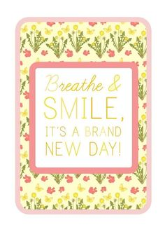 Breathe and Smile  8x10 print by thewheatfield on Etsy, $18.00