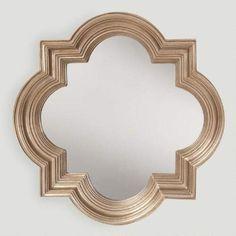 One of my favorite discoveries at WorldMarket.com: Platinum Gold Metal Frame Mirror