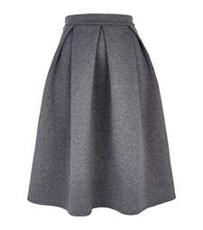 Grey flannel full midi skirt £35.00 | Skirt | Pinterest | Full ...
