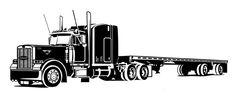 Pin Peterbilt Semi Truck Clip Art On Pinterest