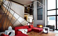 Конструктивизм - необычный стиль дизайна интерьера Le Corbusier, Living Area, Stairs, Interior Design, Furniture, Home Decor, Style, Design Ideas, Interiors