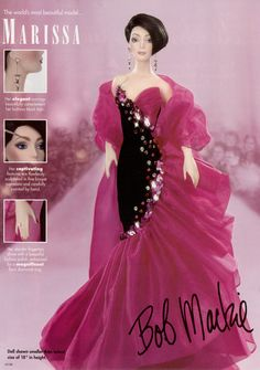 Marissa, by Bob Mackie - one of the few doll designs not done explicitly for Barbie.  I believe this was an attempt by Bob to start his own line, similar to what Robert Tonner pulled off with the Tyler Wentworth collections, but it didn't get off the ground.