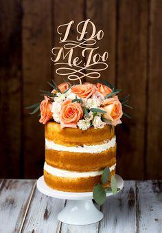 BETTER OFF WED RUSTIC CAKE TOPPERS // #cake #topper #nakedcake #dessert #weddingcake #wedding