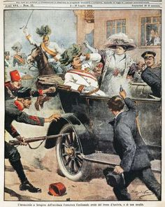 July 23,  1914: AUSTRIA-HUNGARY ISSUES AN ULTIMATUM TO SERBIA  -    Austria-Hungary issue an ultimatum to Serbia following the killing of Archduke Francis Ferdinand by a Serb assassin; the dispute led to World War I.