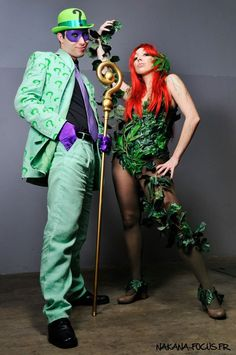 The Riddler and Poison Ivy by CaptainCosplayyy.deviantart.com