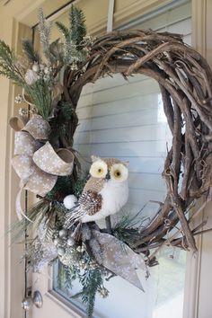 Winter Woodland Wreath DIY Tutorial www.ourmessytable.com