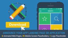Mobile App Landing Page Promo