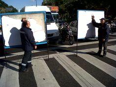 """Publicity men"". Avenida 9 de Julio. Buenos Aires. Argentina."