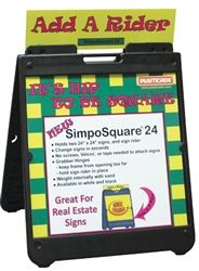 Simpo Square A-Frame sidewalk sign is lightweight, durable, portable and water proof. Fast Ship Product!