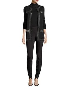 Top,+Leggings+&+Vest+by+St.+John+Collection+at+Neiman+Marcus.