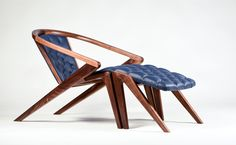 Buy online Portuguese roots lounge chair By aroundthetree, solid wood lounge chair with armrests design Alexandre Caldas, portuguese roots Collection Wood Chair Design, Lounge Chair Design, Ikea Chair, Diy Chair, Papasan Chair, Wood Furniture, Modern Furniture, Furniture Design, Metal Chairs