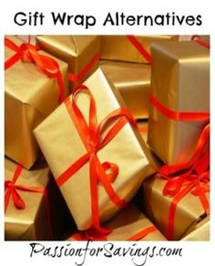 Getting ready to start wrapping some gifts to put under the tree? Check out these alternatives to every day gift wrapping. #christmas