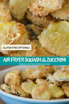 Air Fryer Fried Zucchini Fried Squash Recipes, Yellow Squash Recipes, Air Fry Recipes, Grilling Recipes, Cooking Recipes, Fall Recipes, Fried Zucchini, Zucchini Squash, Yellow Zucchini